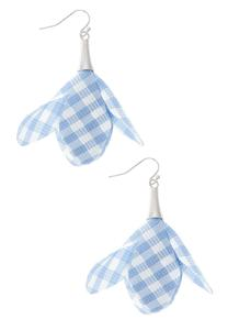 Gingham Petal Earrings