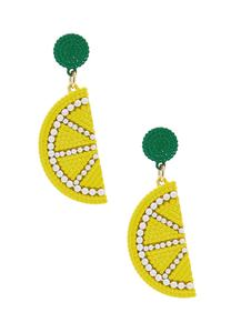 Lemon Seed Bead Earrings