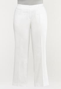 Plus Size Sateen Trouser Pants