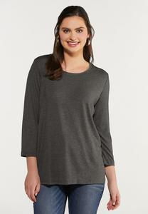 Plus Size Scoop Neck Knit Top