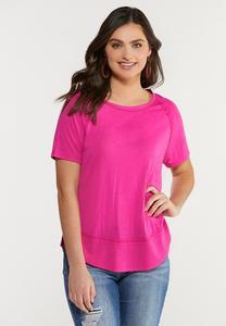 Plus Size Raspberry Hacci Tee