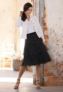 Plus Size Tiered Polka Dot Skirt