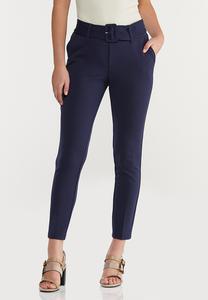 Belted Slim Pants