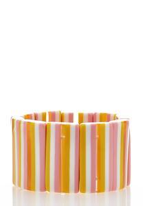 Striped Rectangle Stretch Bracelet