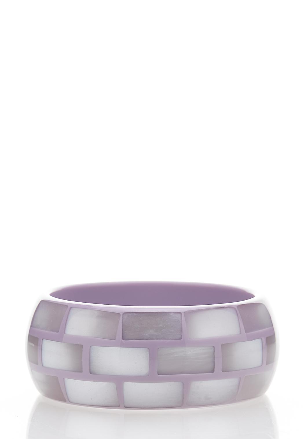 Lavender Faceted Bangle Bracelet
