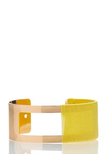 Threaded Cutout Cuff Bracelet