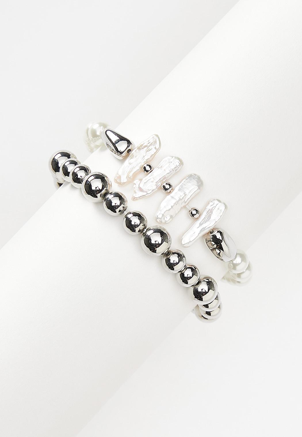 Freshwater Pearl Stretch Bracelet Set
