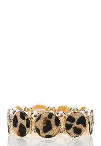 Textured Leopard Stretch Bracelet