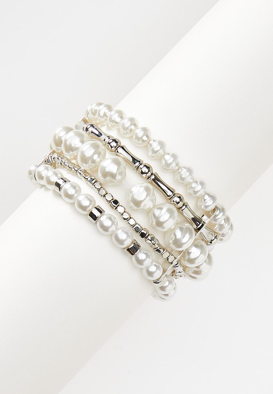 Mixed Pearl Stretch Bracelet