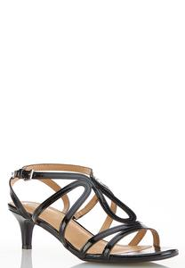 Wide Width Patent Strappy Sandals