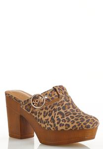 Leopard Chunky Clogs