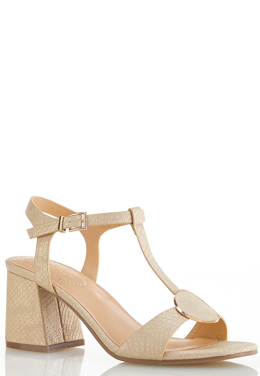 T-Strap Heeled Sandals