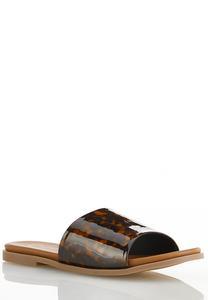 Tortoise Band Slide Sandals