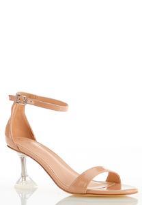Patent Lucite Heel Sandals