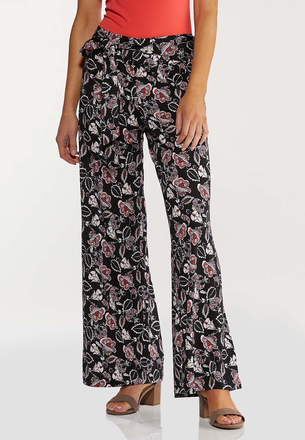 Fun Floral Wide Leg Pants