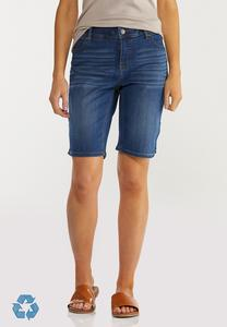 The Perfect Denim Bermuda Shorts