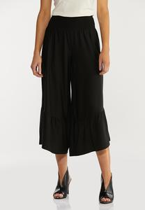 Cropped Ruffled Pants