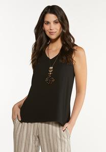 Plus Size Double Layer Tank