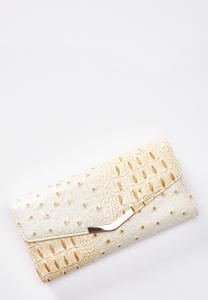 Ivory Ostrich Wallet