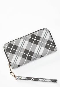 Plaid Wristlet Wallet