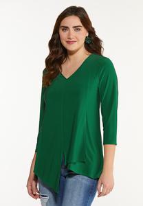 Plus Size Dressy Asymmetrical Top