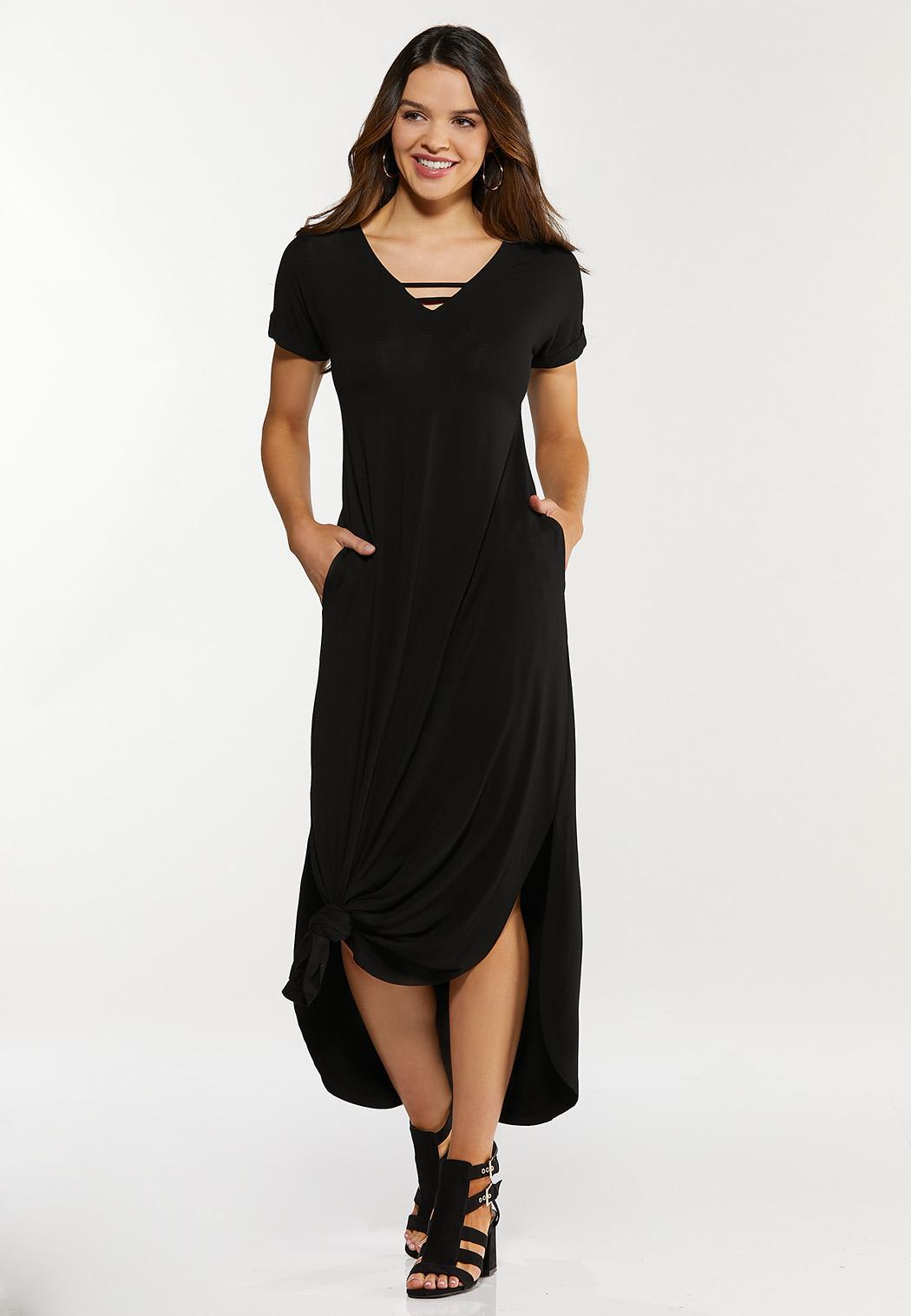 Knotted Hem Maxi Dress
