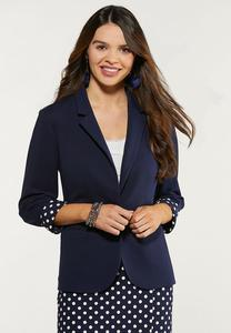 Plus Size Polka Dot Pop Blazer