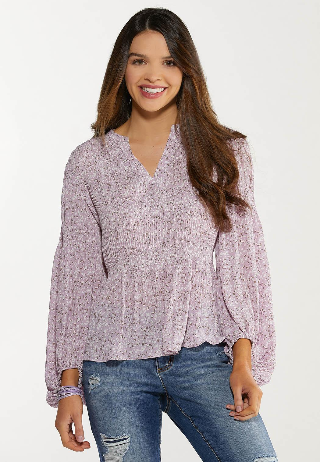 Lavender Fields Sleeve Top