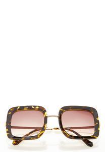 Oversized Tortoise Square Sunglasses