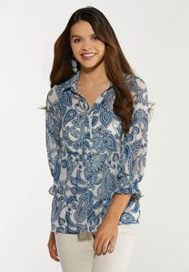Tiered Paisley Top