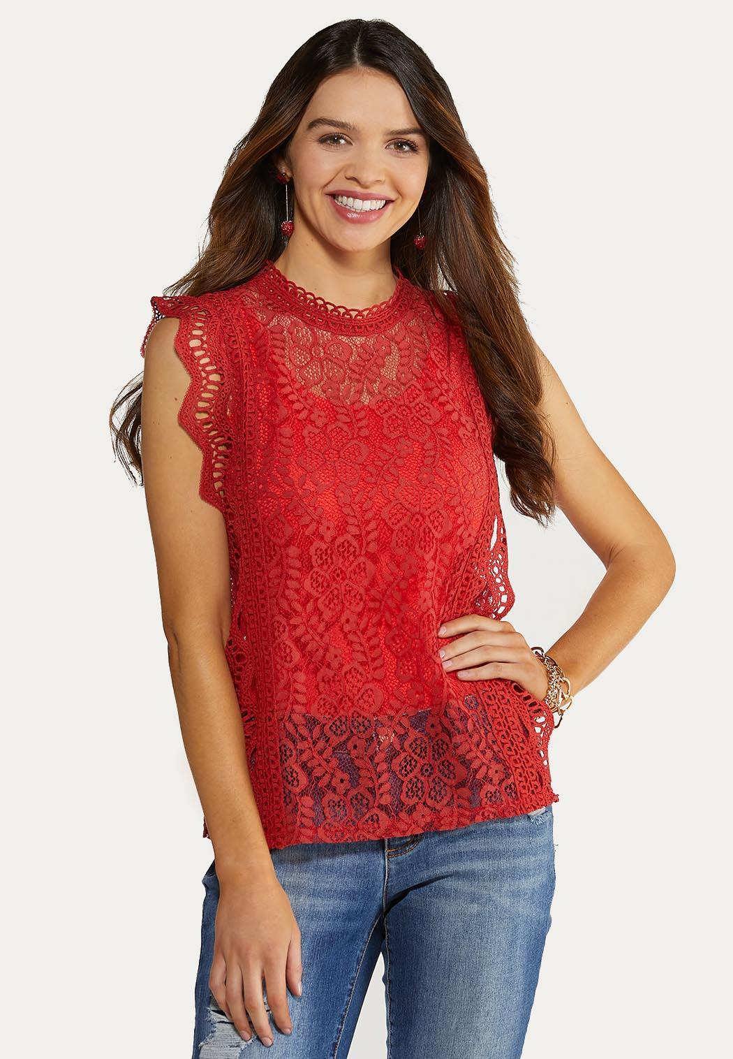 Plus Size Spice Crochet Tank