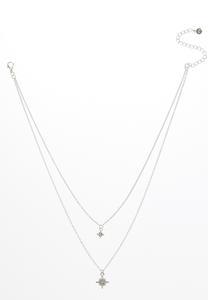 Layered Burst Charm Necklace
