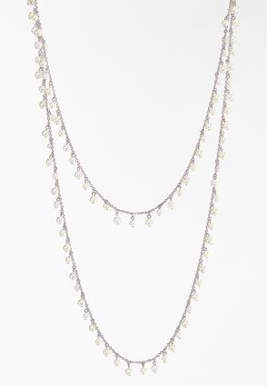 Layered Shaky Pearl Necklace