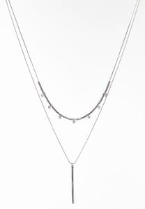 Linear Bar Layered Necklace