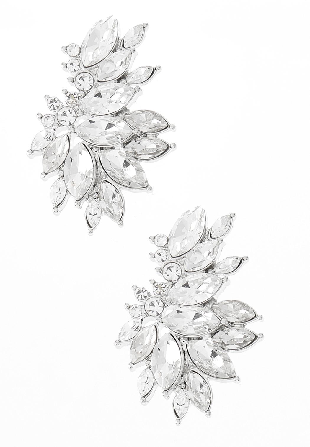 Rhinestone Marquise Earrings