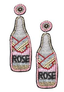 Rose Bottle Statement Earrings