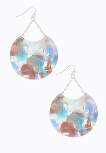 Marble Disc Chain Earrings