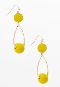 Gold Bead Dangle Earrings