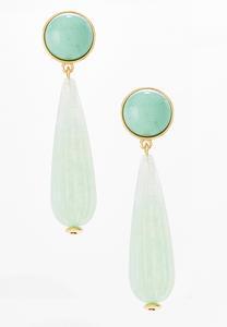 Mint Enamel Clip-On Earrings