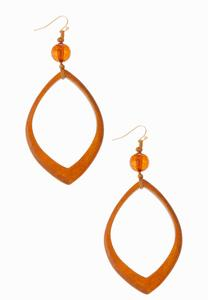 Cutout Wood Earrings