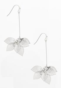 Linear Metal Leaf Earrings