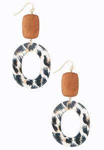 Safari Vacation Resin Earrings