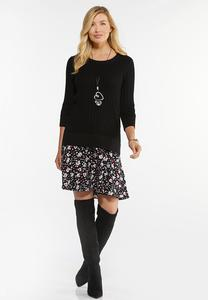 Tunic Sweater And Skirt Set