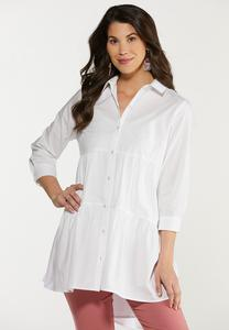 Tiered Button Down Tunic