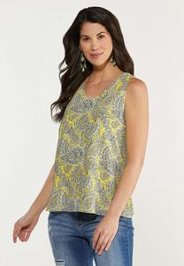 Yellow Paisley Tank