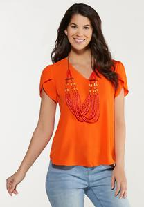 Plus Size Tulip Sleeve Top