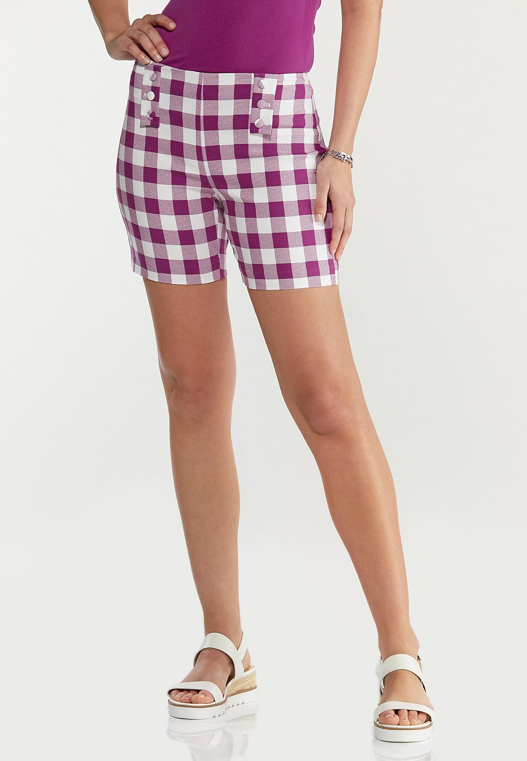 Gingham Bengaline Shorts
