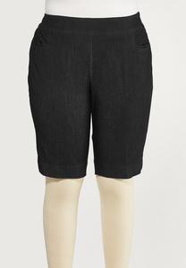 Plus Size Denim Burmuda Shorts