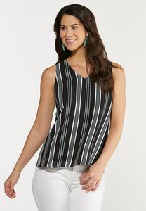 Plus Size Stripe Layered Tank
