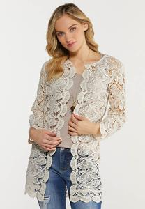 Scalloped Crochet Cardigan